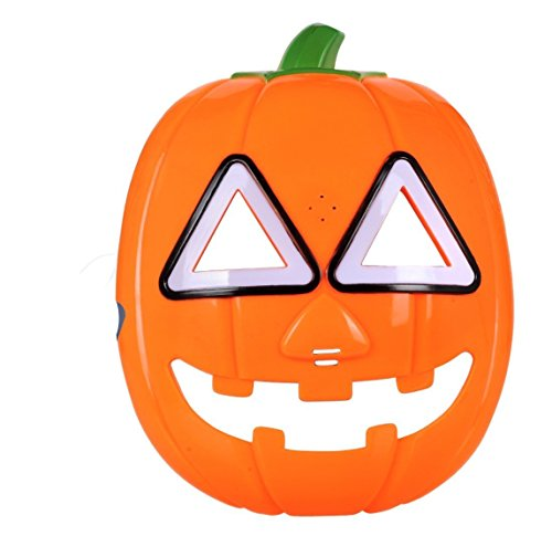 SPARIK ENJOY (TM) Halloween Pumpkin LED Flash light Mask With Sound Glow Eye Halloween Party Costume Decorations ( Pumpkin )