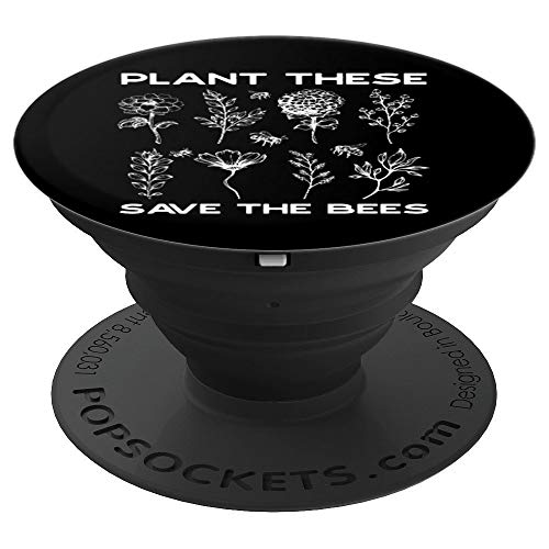 Earth Day Plant These Save Bees - PopSockets Grip and Stand for Phones and Tablets