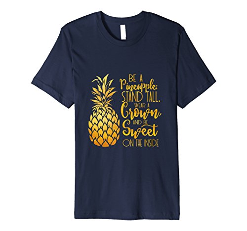 Cute Modern Lettering Pineapple Gift T-Shirt   S000200