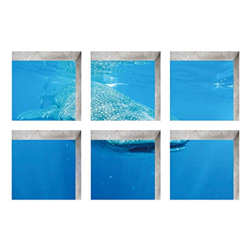 LUXISDE 6pcsNew Bath Tub Shower Stickers PVC Decals Applique Anti Skid Mural Home Decor