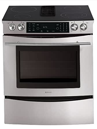 jensen jes9800bas jenn air electric downdraft slide in rangea appliances. Black Bedroom Furniture Sets. Home Design Ideas