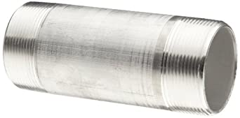 """Aluminum Pipe Fitting, Nipple, Schedule 40, 4"""" NPT Male X 6"""" Length"""