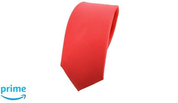 TigerTie - corbata estrecha - rojo rosé rojo salmón monocromo 100 ...