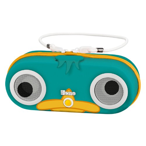 "Phineas and Ferb ""Agent P"" Water Resistant Portable Stereo Portable Sport Case for iPod, Shuffle, MP3 players with built in remote, DF DF-M133"