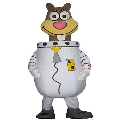 Sandy Chipmunk from Spongebob Character Mascot Costume Cosplay Brown]()