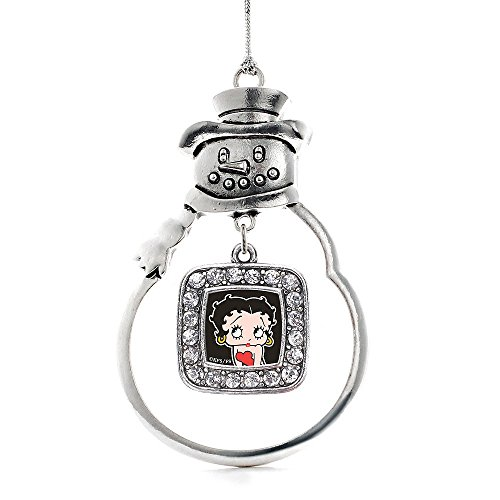 Inspired Silver - Square Betty Boop Snowman Ornament, Christmas Tree - (Snowman, Square Betty Boop)
