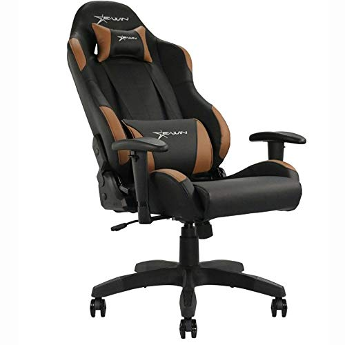Ewin Gaming Chair with Adjustable Armrest and Backrest High-back Ergonomic Computer Chair , Leather Swivel Executive Office Chair E-WIN