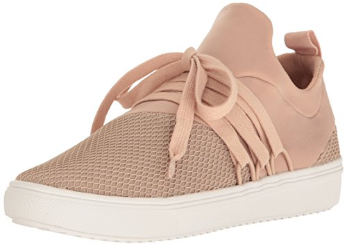 Steve Madden Women's Lancer Fashion Sneaker, Blush, 7.5 M US