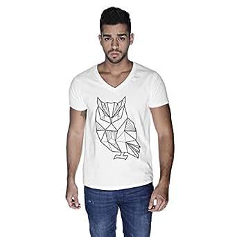Creo Owl Animal T-Shirt For Men - L, White
