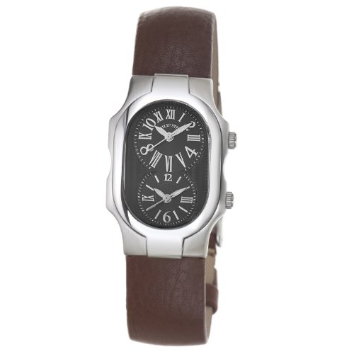 Philip Stein Women's 1-MB-CBR Signature Brown Leather Strap Watch