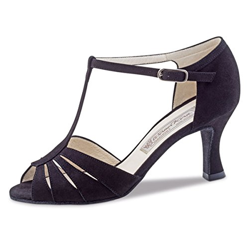 5 Dalia Suede Werner Dance 6 Ladies Shoes Black Kern wqYZvf