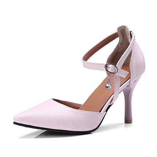 Caviglia Alla Sandali rosa amp;X QIN Tacchi Donna Punta Cinturino XHxYxqRTO