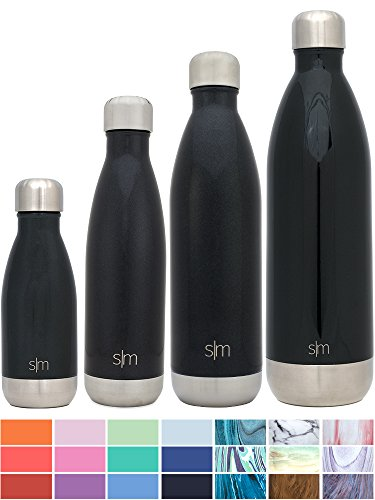 Simple Modern Stainless Steel Vacuum Insulated Double-Walled Wave Bottle, 25oz - Midnight Black