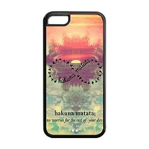 5C Phone Cases, Hakuna Matata Infinite Hard TPU Rubber Cover Case for iPhone 5C