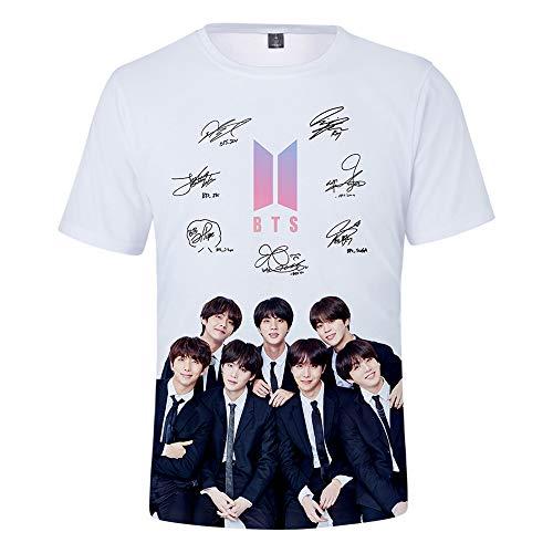 DealRight BTS Shirt Love Yourself T-Shirt Short Sleeve Jungkook Suga JIN Jimin J-Hope V RM Kpop Tee Crew Neck T Shirts