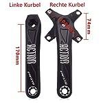 Tbest-Guarnitura-MTBGuarnitura-Quadro-MTBPedivelle-MTBSet-di-pedivelle-per-Bici-Guarnitura-per-pedivelle-per-Mountain-Bike-Sinistra-e-Destra-in-Lega-di-Alluminio-Accessori-per-Biciclette-170mm
