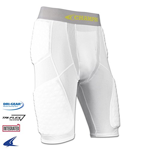 Blackout Tees Champro Adult Basketball Padded Compression Shorts BBGU9A White M