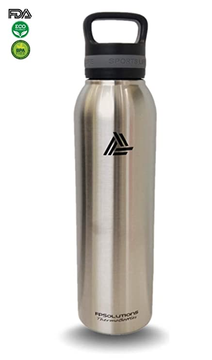 69a41a149d FPSolutions Stainless Steel Water Bottle Vacuum Insulated Double Wall - 24  oz. | Designed with