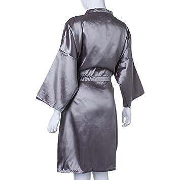 Amazon.com : Grey Waterproof Hair Salon Cutting Hairdressing Gown ...