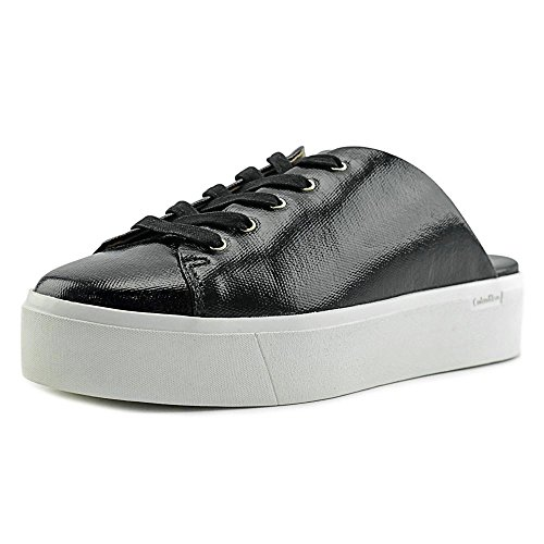Calvin Klein Womens Jaleh Low Top Lace Up Fashion Sneakers Black
