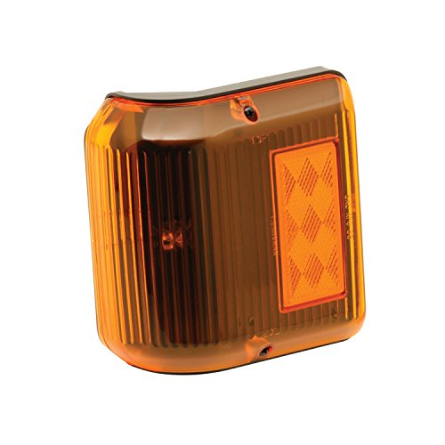 Bargman 34-86-203 Wrap-Around Side Marker Light (with Black Base - Amber)