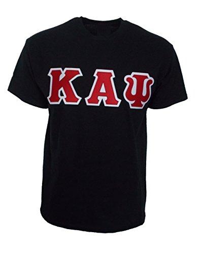 (Mega_Greek Mens Kappa Alpha Psi Letter T-Shirt (Large,)