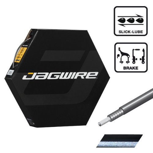 Jagwire 5mm CGX Brake Housing Black with Reflective with Slick-Lube Liner 30 Meter Shop Roll