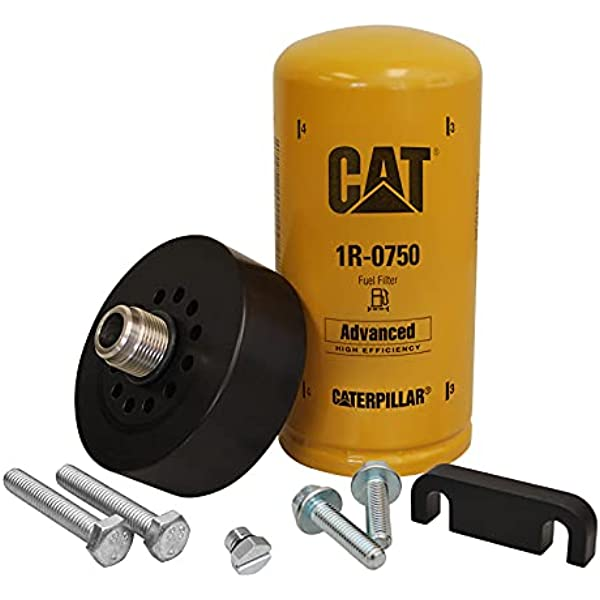 XDP Duramax CAT Adapter with 1R-0750, Bleeder Screw & Spacer: Automotive -  Amazon.com | Add On Kit For Duramax Fuel Filter |  | Amazon.com