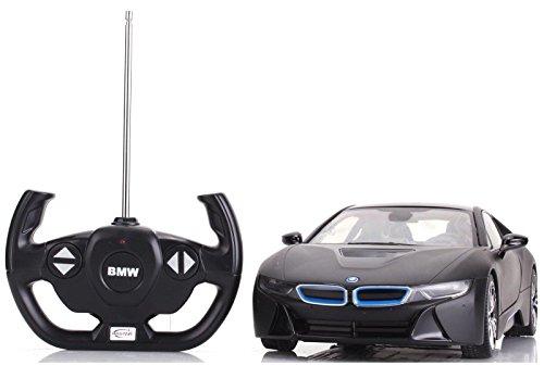 Licensed BMW i8 Remote Radio Control RC Car 1:14 RTR Opening Vertical Door Black ()