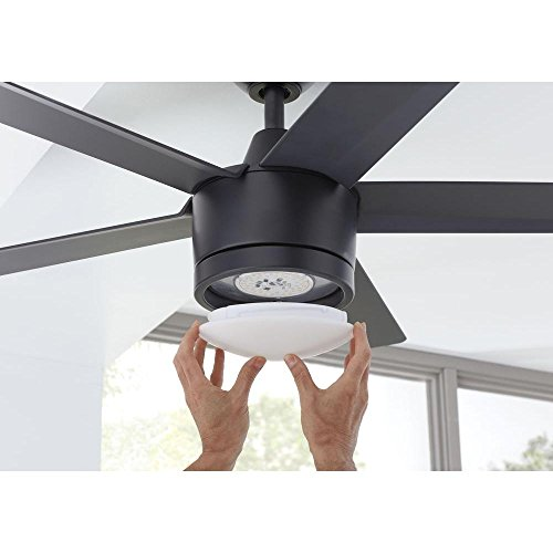Home Decorators Collection Merwry Led 52 Indoor Ceiling Fan Black Ceiling Fans Light Fixture