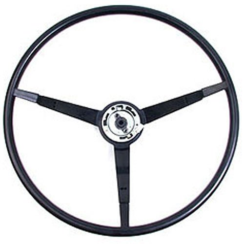 1966 Mustang Steering Wheel - Golden Star Auto WL20-65B Black Steering Wheel