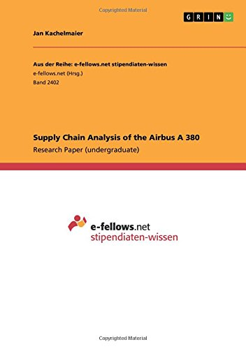 Download Supply Chain Analysis of the Airbus a 380 PDF