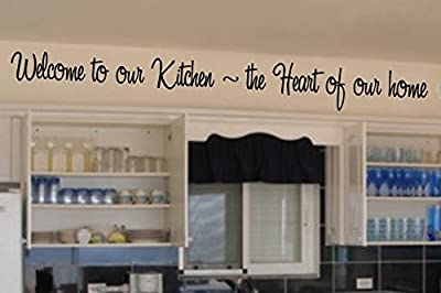 Quote It! - Welcome to Our Kitchen Vinyl Wall Lettering, Sayings, Phrases,words, Sticky, Art, Home Decor, Quote, Kitchen, Wall Decor, Family, Home, Love, Transfers, Inspirational