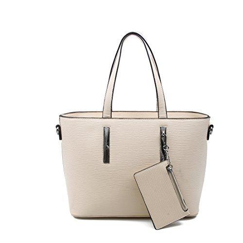 OBC Mujer Negocios Bolso De Compras Workbag Bolso De Hombro Bolso de mano con asas - beige, CA 37x25x12 cm (BxHxT ) beige