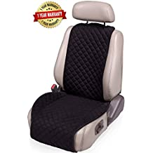 IVICY Car Seat Cover = Car Seat Cushion = Universal Protector for Front Car Seats for Woment, Men, Girls, Boys - Fits Most Car, Truck, Suv, or Van - 1-pc (Black Wings)