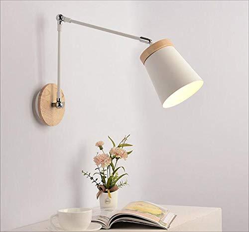 1 Light Novello Sconce (HRFFCLH Indoor Wall Light Incandescent Energy Saving LED Light, Bedroom Bedside lamp, Stairway Corridor Decorative Lighting,1#)