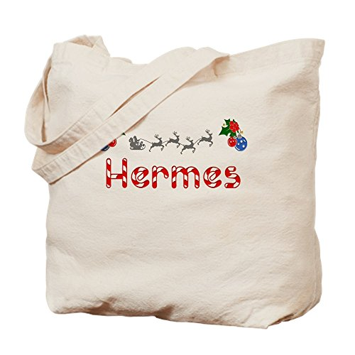 CafePress - Hermes, Christmas - Natural Canvas Tote Bag, Cloth Shopping Bag