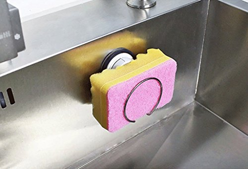 The Kitchen Sink Sucker Rack Cleaning Sponge Drainboard Storage Rack by SUN