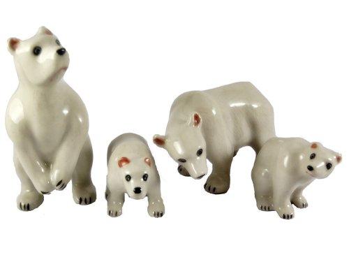 Miniature Figurine Ceramic Animal Family - Polar Bear Family Figurine Shopping Results