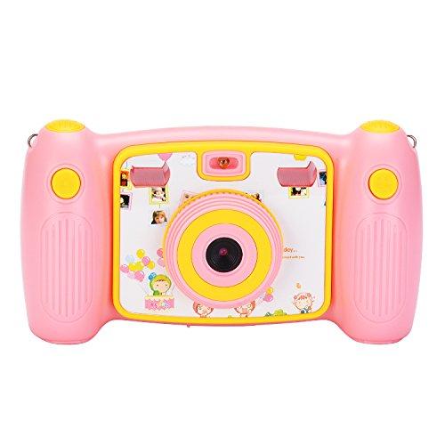 Kids Pink Digital Camera - Jusinhel Cute Kids Action Camera for Children Digital Video HD Camcorder DV for Holiday Birthday Gift - Pink