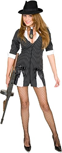 Double Zip Gangster Moll Costume - Large