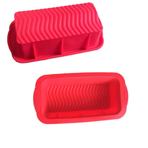 10 X 5 X 2.75 Inch Silicone Bread Mold and Loaf Pan, Set of 2 for Soap and Bread (Ships From USA)