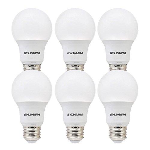 SYLVANIA, 60W Equivalent, LED Light Bulb, A19 Lamp, 6 Pack, Daylight, Energy Saving & Long Life, Medium Base, Efficient 8.5W, (Osram Sylvania Led)