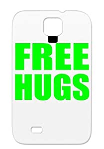 Free Hugs Green Shock Absorption Cover Case For Sumsang Galaxy S4 Funny Free Hugs Satire TPU