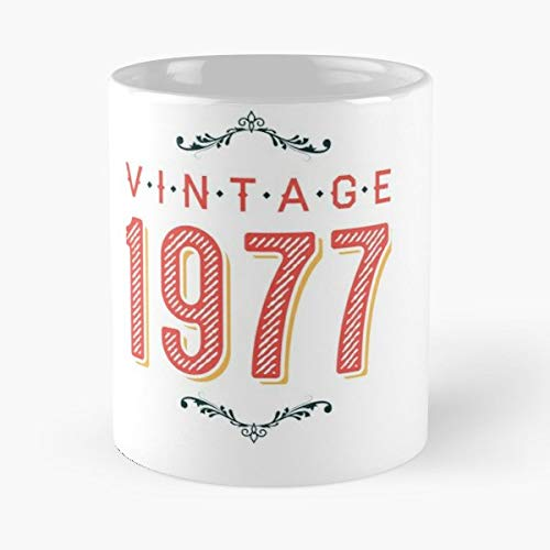 Vintage 1977 T Shirt Gift Idea Christmas Halloween - Best Gift Ceramic Coffee Mugs 11 Oz -