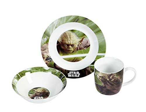 Star Wars 12492 3-teiliges Porzellanset Yoda