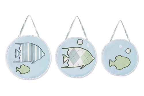 Sweet Jojo Designs Wall Hanging - Go Fish Ocean Fishing