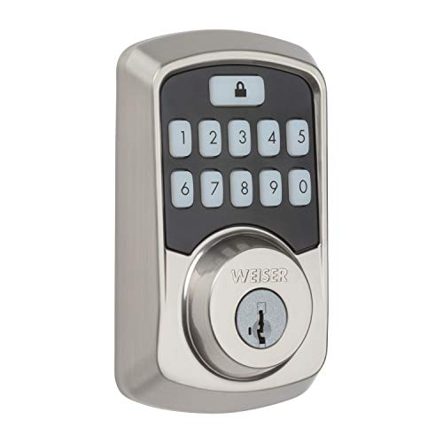 Weiser Aura Bluetooth Keypad Smart Lock with SmartKey - Satin Nickel