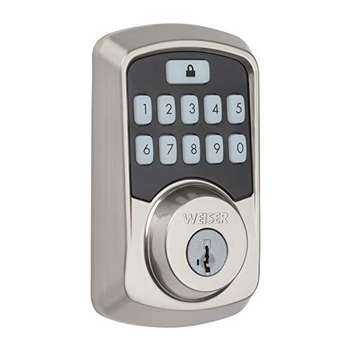 Weiser Aura Bluetooth Keypad Smart Lock with SmartKey - Satin Nickel