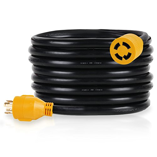 PROLINE Power 25-FT Generator Extension Cord, 30Amp, 4 Prong Locking Heavy Duty (L14-30) 125-240V 10/4 SJTW (25)